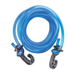 Extensor em Silicone com Ponteira Plástica Azul - Pacote com 10 unidades